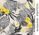 vector seamless tropical... | Shutterstock .eps vector #656475514