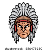 warrior head logo | Shutterstock .eps vector #656479180