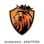 lion king sport logo   Shutterstock .eps vector #656479204