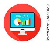 big data computer flat circle... | Shutterstock .eps vector #656481640
