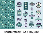 father's day package with bonus ... | Shutterstock .eps vector #656489680