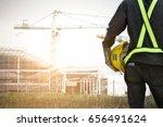 rear view asian  male site... | Shutterstock . vector #656491624