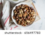 Assorted Nuts In White Bowl On...