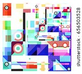 trendy geometric elements... | Shutterstock .eps vector #656503528