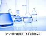 blue chemistry vials | Shutterstock . vector #65650627