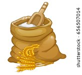 flour bag vector | Shutterstock .eps vector #656507014