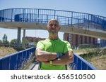 retired man after training  | Shutterstock . vector #656510500