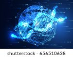 abstract technology science... | Shutterstock .eps vector #656510638
