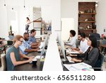 business colleagues working at... | Shutterstock . vector #656511280
