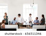 young business group in... | Shutterstock . vector #656511346