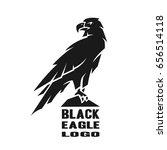 monochrome eagle logo. | Shutterstock .eps vector #656514118