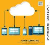 cloud computing concept design. ... | Shutterstock .eps vector #656516974
