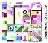 trendy geometric elements... | Shutterstock .eps vector #656518834