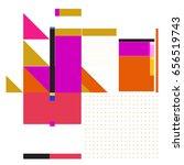 trendy geometric elements...   Shutterstock .eps vector #656519743