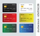 credit cards vector | Shutterstock .eps vector #656536138