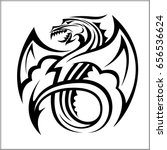 dragon logo dragon vector logo... | Shutterstock .eps vector #656536624
