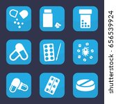capsule icon. set of 9 filled... | Shutterstock .eps vector #656539924