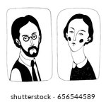vector illustration.  black and ... | Shutterstock .eps vector #656544589
