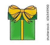giftbox present isolated icon | Shutterstock .eps vector #656545900