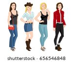 vector illustration of woman... | Shutterstock .eps vector #656546848