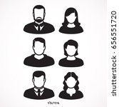 simple avatar icons of various... | Shutterstock .eps vector #656551720