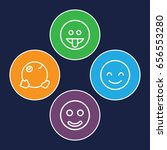 smiley icons set. set of 4... | Shutterstock .eps vector #656553280