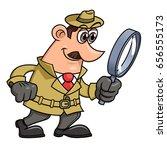 detective is looking through... | Shutterstock .eps vector #656555173