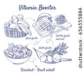 doodle set of fruit salad  ... | Shutterstock .eps vector #656555884