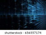 digital technology abstract... | Shutterstock . vector #656557174
