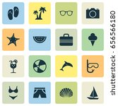 sun icons set. collection of... | Shutterstock .eps vector #656566180