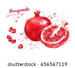 watercolor illustration of... | Shutterstock . vector #656567119
