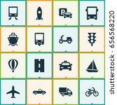 transportation icons set.... | Shutterstock .eps vector #656568220