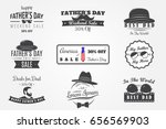 happy father's day greeting. a... | Shutterstock .eps vector #656569903