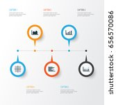 set of graphs  diagrams and... | Shutterstock .eps vector #656570086
