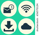 media icons set. collection of...