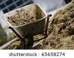 wheel barrow with natural heap