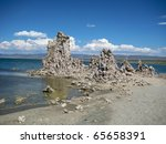 Row Of Tufa Formations In Mono...