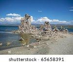 Row Of Tufa Formations In Mono...