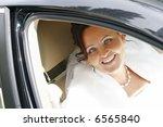 bride in the car | Shutterstock . vector #6565840