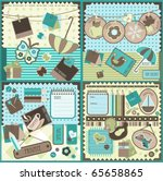 scrapbook elements  vector | Shutterstock .eps vector #65658865