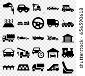 automobile icons set. set of 25 ... | Shutterstock .eps vector #656590618