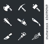 vector set weapons for zombies...   Shutterstock .eps vector #656590969