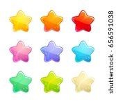 cartoon glossy colorful stars... | Shutterstock .eps vector #656591038