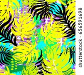 exotic seamless tropical... | Shutterstock .eps vector #656591698