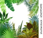 watercolor tropical background | Shutterstock . vector #656595490