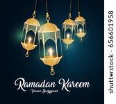 ramadan kareem greeting card....   Shutterstock .eps vector #656601958