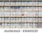 dilapidated council flat... | Shutterstock . vector #656604220