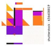 trendy geometric elements...   Shutterstock .eps vector #656608819