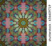 vector sacred geometry round... | Shutterstock .eps vector #656609719