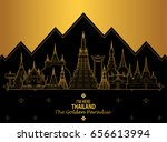 thailand travel concept the... | Shutterstock .eps vector #656613994